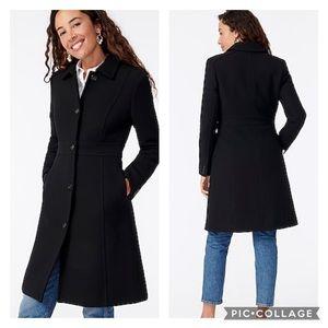 J. Crew | 6 Tall Black Classic Lady Day Coat